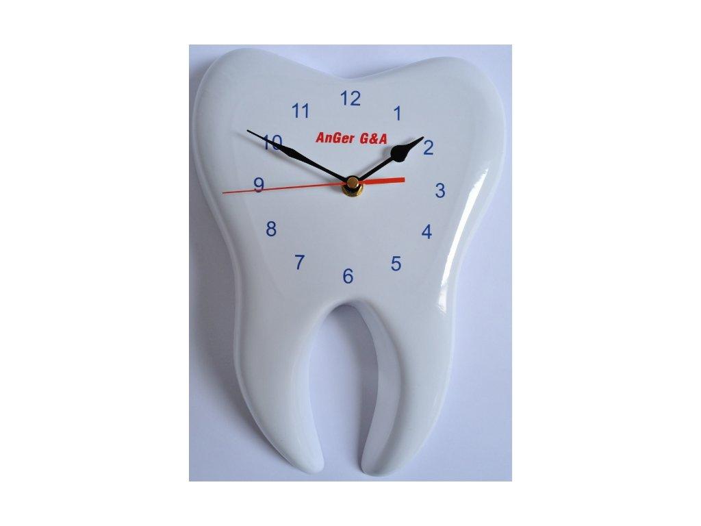 AnGer nástěnné hodiny ve tvaru zubu 3D