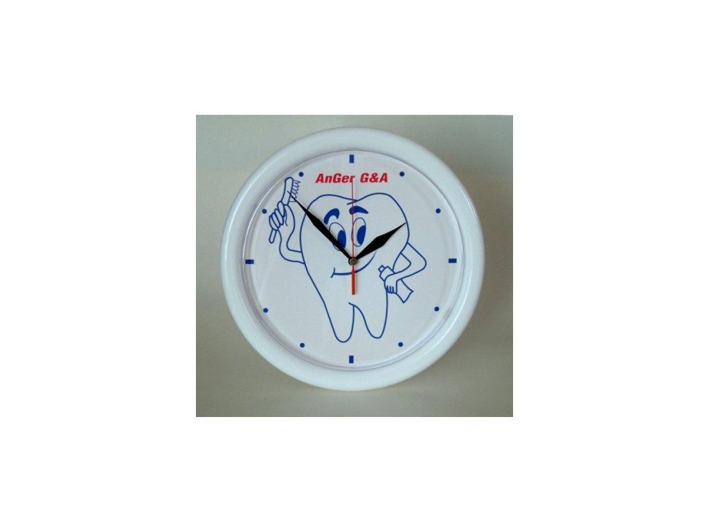 AnGer Nástěnné hodiny se zubem a zubním kartáčkem