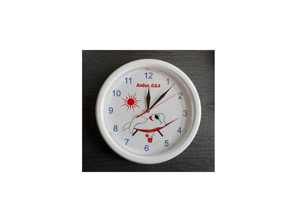 AnGer nástěnné hodiny (zub na lehátku)