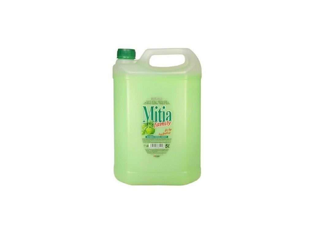 mitia family green apple tekute mydlo 5 litru zelena