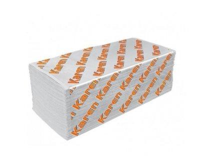 Karen Premium papírové ručníky skládané ZZ bílé 25cm