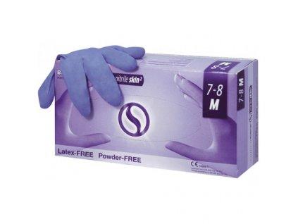 Semperit Sempercare rukavice nitrilové SKIN2 nepudr.
