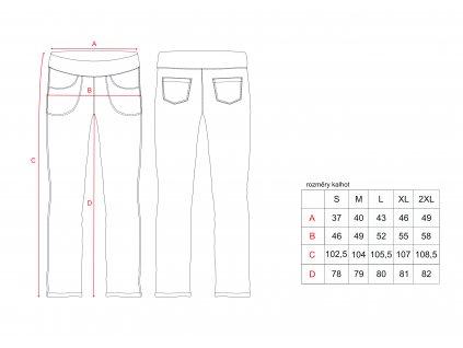 nákres dám kalhoty