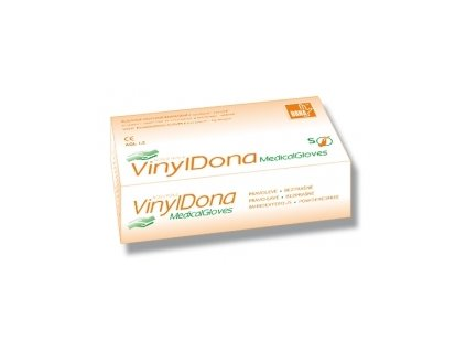 DONA Vinylové vyšetřovací rukavice nepudrované
