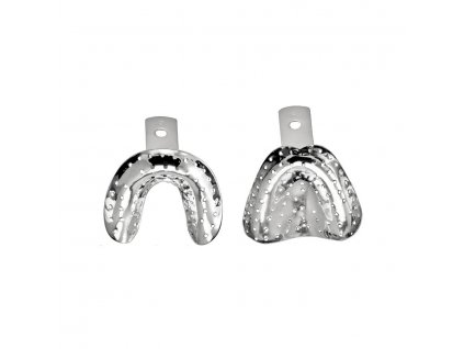 impression tray edentulous upper perforated no 1 m