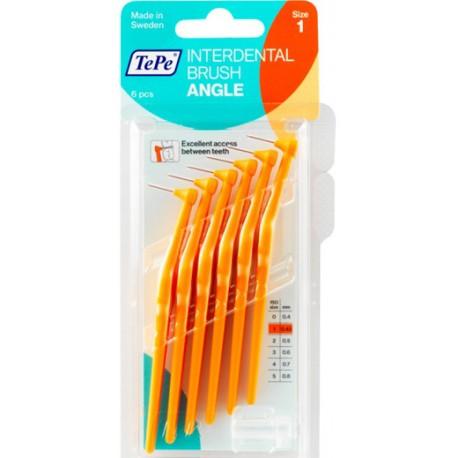 TePe Munhygienprodukter AB TePe Angle mezizubní kartáček Barva,velikost: 1 (0,45 mm) - oranžová, Počet kusů v balení: 6 ks