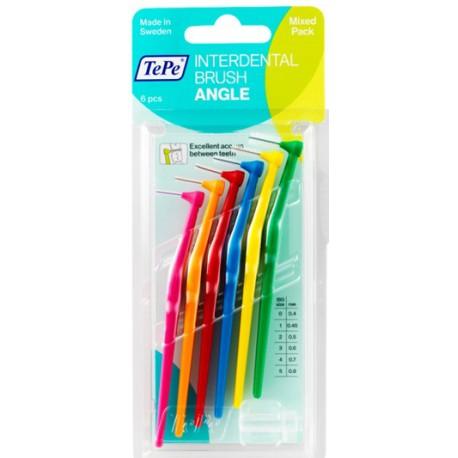 TePe Munhygienprodukter AB TePe Angle mezizubní kartáček Barva,velikost: MIX (0,4 - 0,8) - mix barev, Počet kusů v balení: 6 ks
