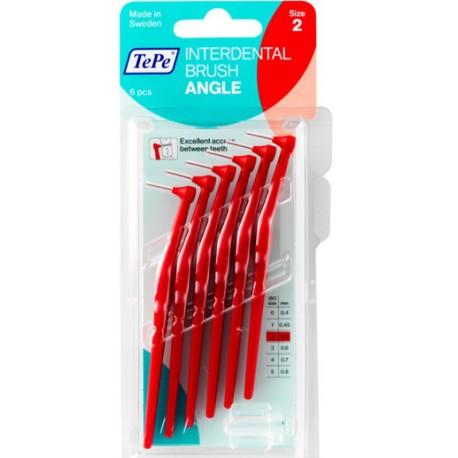 TePe Munhygienprodukter AB TePe Angle mezizubní kartáček Barva,velikost: 2 (0,5 mm) - červená, Počet kusů v balení: 6 ks