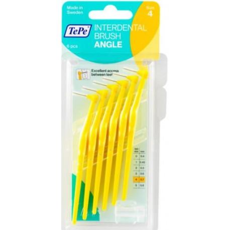 TePe Munhygienprodukter AB TePe Angle mezizubní kartáček Barva,velikost: 4 (0,7 mm) - žlutá, Počet kusů v balení: 6 ks