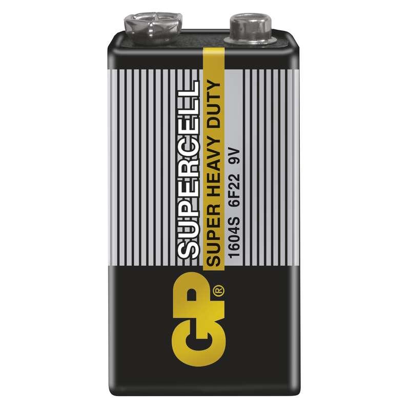 GP Batteries GP Zinkouhlíková baterie Supercell 6F22 (9V) fólie