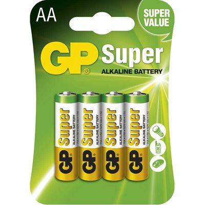 GP Batteries GP Alkalická baterie Super LR6 (AA) blistr Počet ks v balení: 4 ks