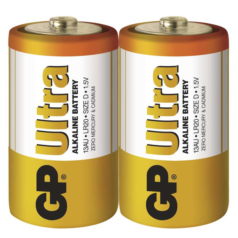 GP Batteries GP Alkalická baterie Ultra LR20 (D) fólie Počet ks v balení: 2 ks