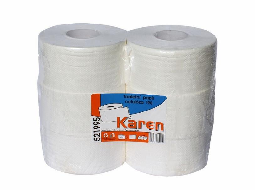 Grasant Karen Toaletní papír JUMBO 2.vrstvý Varianta: Jumbo 190, Počet kusů v balení: 1 ks
