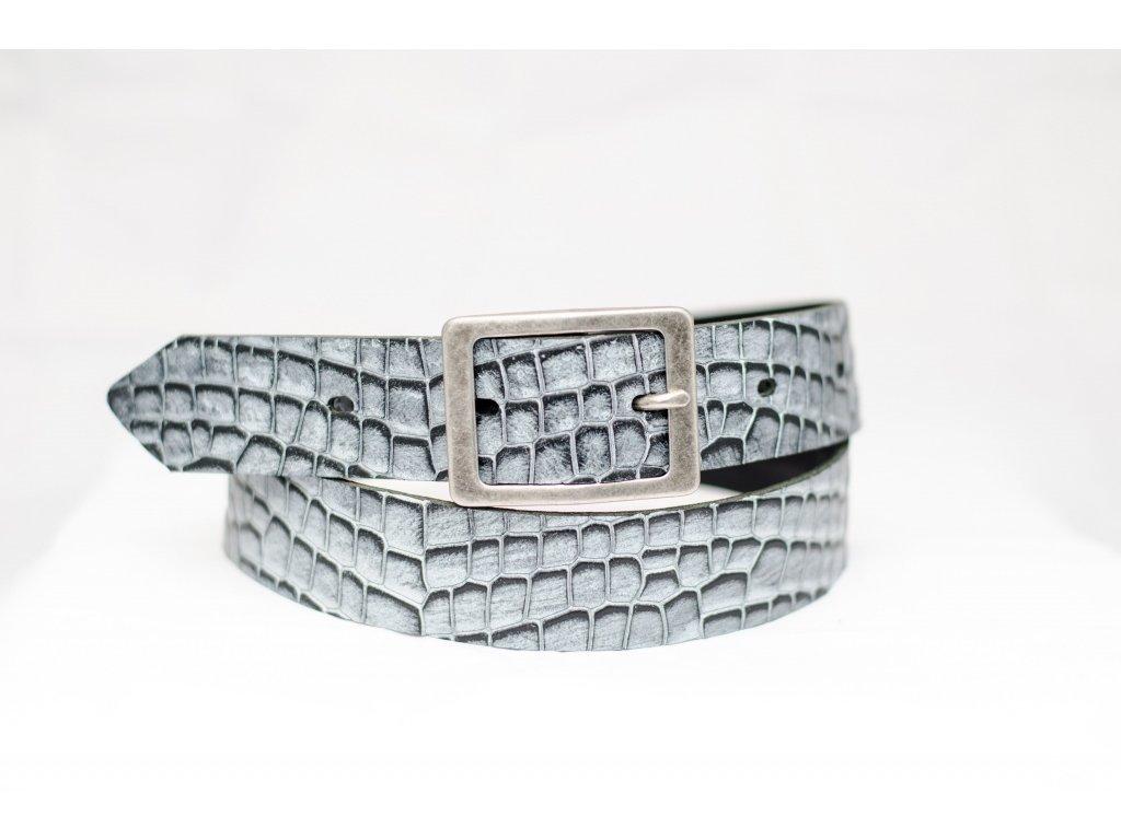 Dámský krokodýlí kožený opasek, šíře 35mm