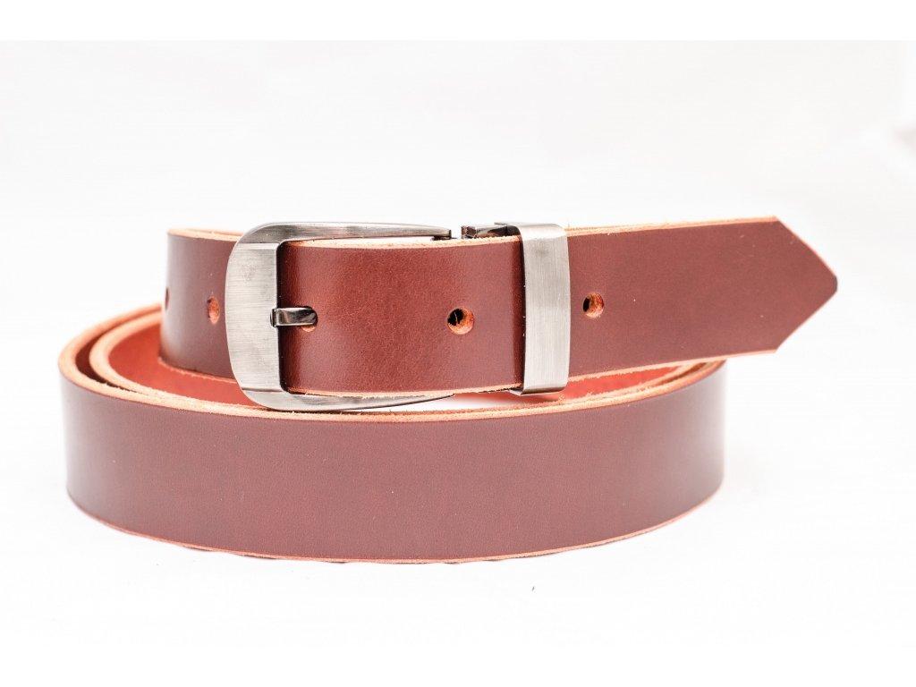 Kožený opasek NORDIC RED Edition, 30mm šíře