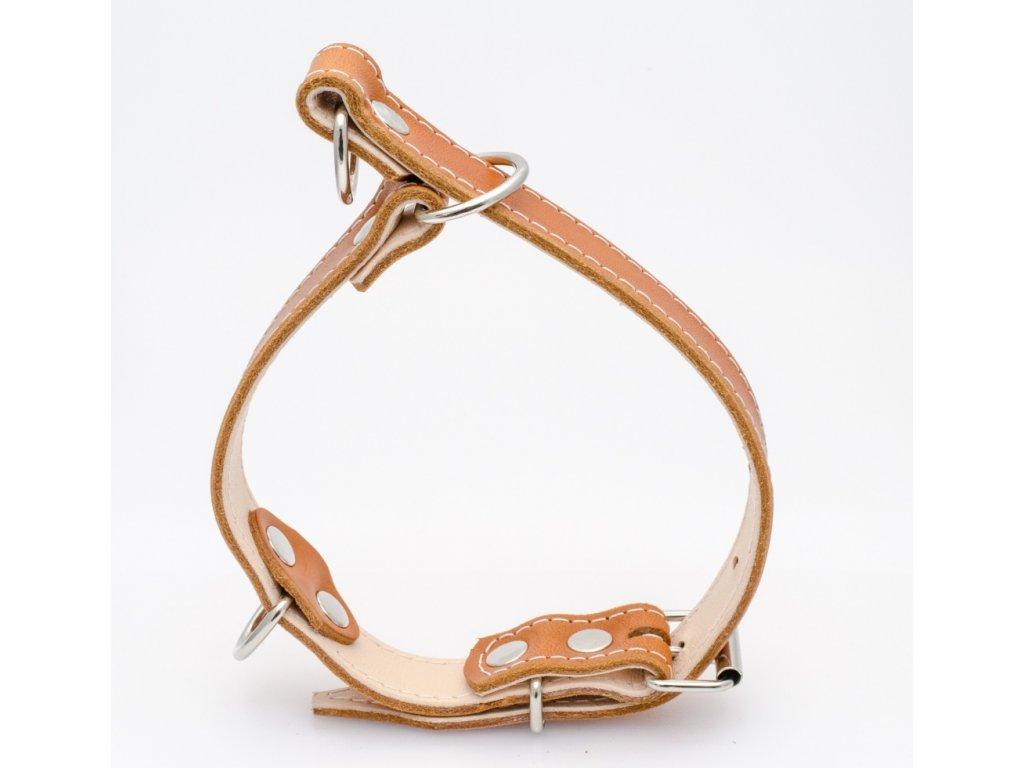 Kožený stahovací obojek, šíře 28mm, délka dle nastavení 40-55cm