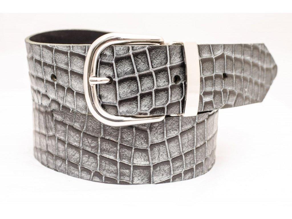 Kožený opasek CROCODILE Edition, 40mm šíře