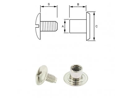 steel screw post 3 15 mm 100 pcs nickel plated 311 l[1]