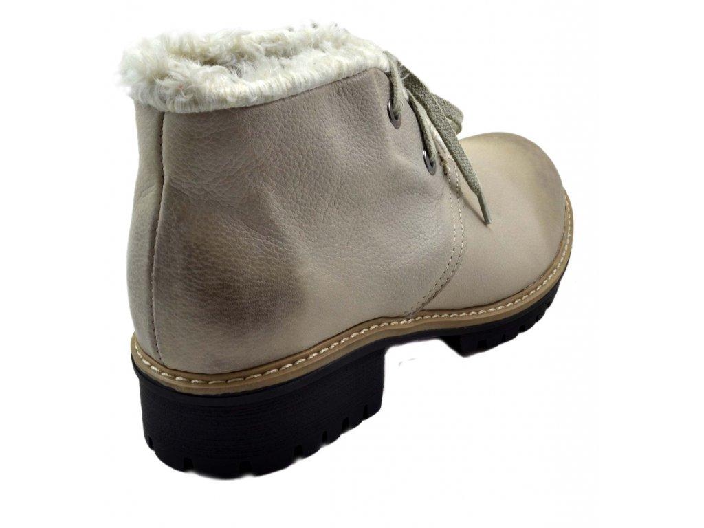9f7d6d2f140 545 béžová rustic23 dámské kožené podzimní zimní nízké polobotky na  zavazování zateplené ovečkou teplé lehké levné ...