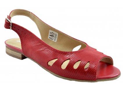 89 cervene sandalky damske pekne levne s leskem otevrena spice