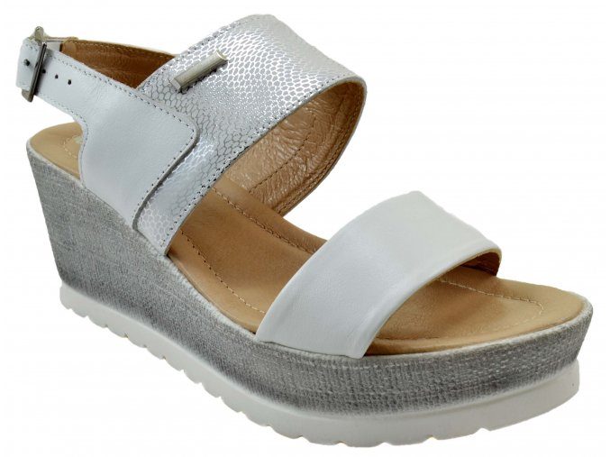 86 bílá wzon letní sandále na korkové podrážce vycházkové pohodlné moderní