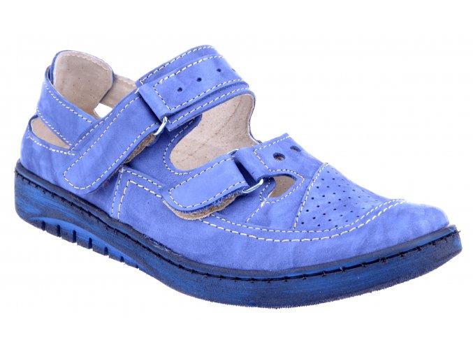 4625 2 modre fantazja marine damske kozene sandale plne levne plna spice suchy zip