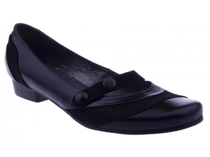 PS368D nadmerne kozene damske baleriny lodicky cerne na nizkem podpatku hladka kuze levne jarni polobotky velkou nohu 42 43 44 41 45