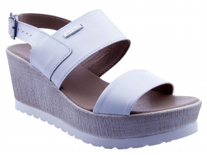 86 2 bila kozene sandalky na vysoke podrazce podesvi letni jemne lehke mekke korkova leto2019 sexy moderni