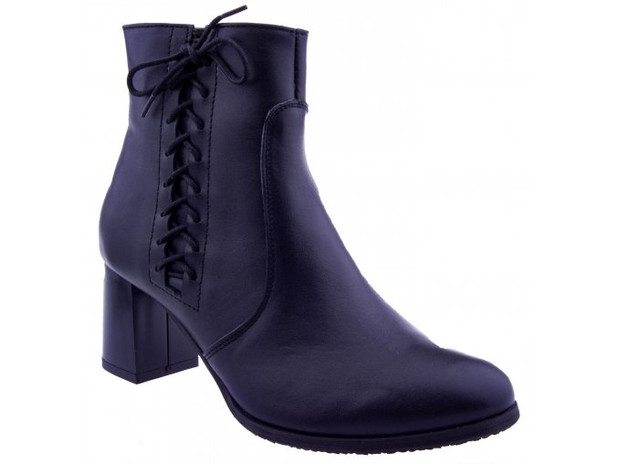 374 cerna damske kozene polobotky polokozacky kozacky levne prava kuze skin zimni boty obuv shoes winter vazani zip sexy levne zdarma doprava