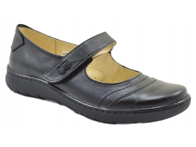 Dámské kožené černé sandále