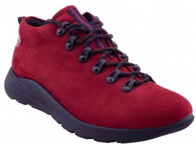 699 bordo nubuk cervene kozene trekove sportovni boty semis softhell jarni podzimni zimni zateplene mekke pohodlne levne doprava zdarma