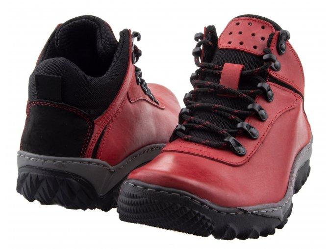 701 cervena kreizi turisticke trekove kozene boty nepromokave levne doprava zdarma kuze