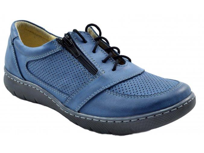 126 damske modre tenisky se zipem pozdimni letni levne kozene