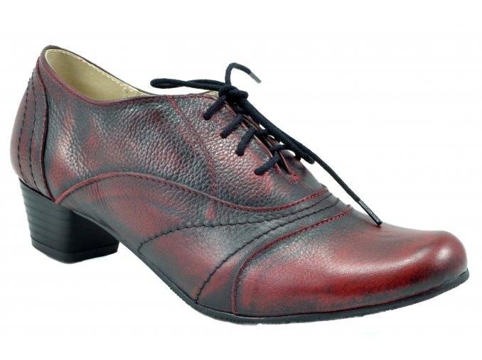 181 červené ombré hadí vzor polobotky zavazování podpatek elegantní moderní