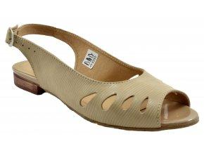 89 bezove sandalky damske pekne levne s leskem otevrena spice