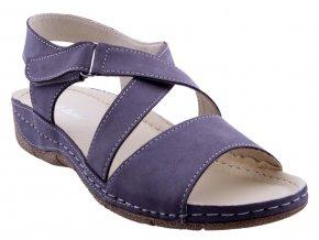 88 šedá kožené sandále sportovní vycházkové pohodlné měkká podešev levné