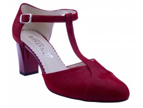 a1e562a633ce 321 cervena damske lodicky s paskem pres nart leskle levne podpatku kozene  sexy tanecni plesove