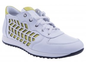 105L6 zluty neon kozene tenisky botasky bile staroruzove pohodlne vychazkove zavazovani