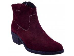 692 bordo zams damske kozene polokozacky lehke levne sexy moderni levne polska obuv boty shoes