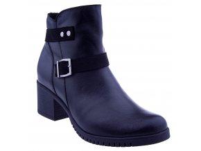 693 2 cerna damske polokozacky kozacky levne sexy moderni shoes skin obuv polske boty jemne decentni doprava zdarma na podpatku zip traktory