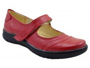 Dámské kožené červené sandále
