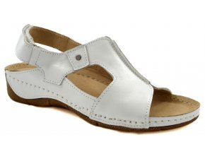 bílé sandály
