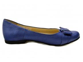 235 dámské kožené balerínky tmavě modrá