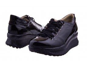 207 czarny valcior cerne tenisky na vysoke podesvi podpatku platforme zavazovani leskle moderni mladistve sexy 1