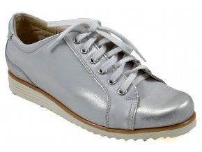 B55 dámské kožené stříbrné tenisky 1