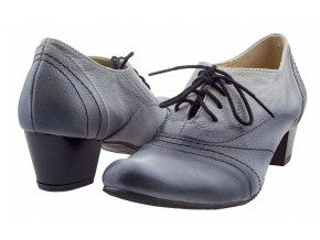 181 popel bl černé ombré polobotky zavazování podpatek elegantní moderní
