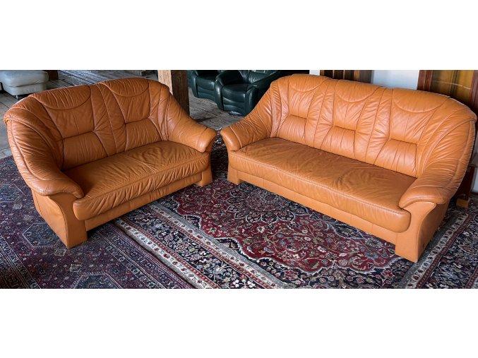 Luxusní kožená sedací souprava 3+2