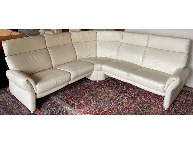 Luxusní moderní rohová kožená sedací souprava, 250x250cm