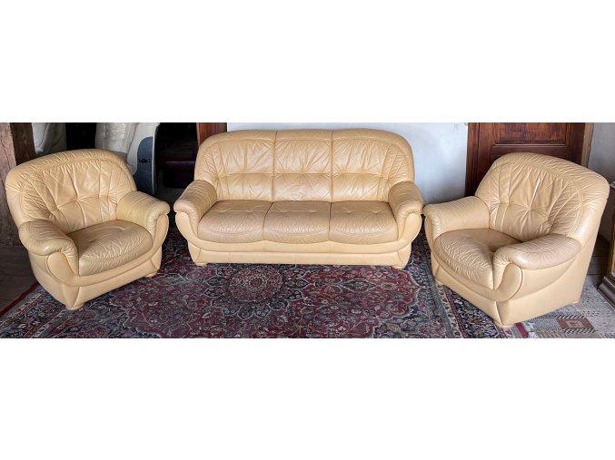 Luxusní kožená sedací souprava 3+1+1
