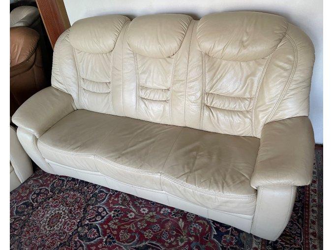 Luxusní kožená sedací souprava 3+2+1